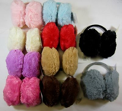 Pick 1 From 10 Colors--Soft  Fuax Fur  Earmuffs Warmer