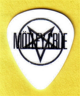 Motley Crue Logo Guitar Pick Black And White
