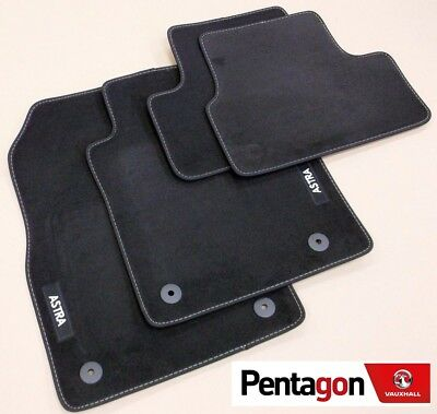 Genuine Vauxhall Astra J/ MK6 Hatch Tailored Black Velour Front/Rear Floor Mats