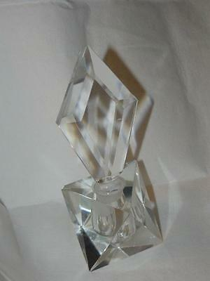 "Fabulous Antique Cut Glass Prism Art Deco Perfume Bottle 8"" Tall Paperweight"