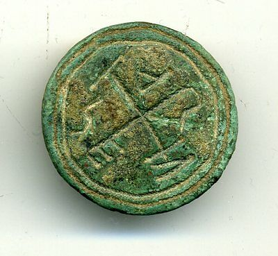 Button or Stamp Incuso High Medieval  Spain ,Cntry VII-VIII, 27 mm
