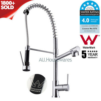 Lead Free Kitchen Sink Mixer Tap Swivel Chrome Commercial Spring Faucet Brass