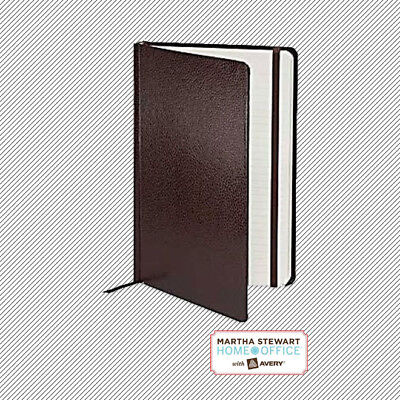 Martha Stewart Hard Cover Shagreen Journal 5.5 x 8.5 Brown 210 Lined Pages