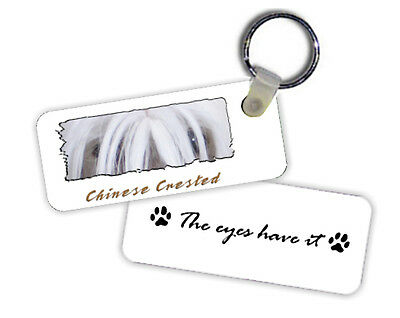 "Chinese Crested  #1   "" The  Eyes Have It ""   Key  Chain"