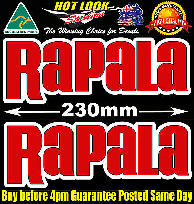 Rapala Decal X2 Lure Fishing Boat Stickers Vinyl COUNTDOWN SLASHBAIT XTREME