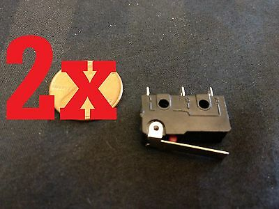 2 Pcs 2x SPDT NO Momentary nc Hinge Lever Mini Micro Switches dc kw11 kw12  a5