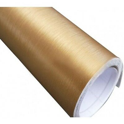 152 x 30 cm FILM VINYLE GOLD BROSSE THERMOFORMABLE CAR WRAP TUNING DISCOUNT