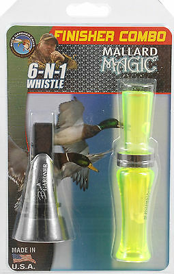 Duck Hunting Call 2 Pack Mallard & Pintail Whistle Buck Gardner Finisher Combo