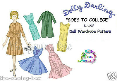Fits BARBIE Dolls - Dolly Darling Goes to College Doll Pattern old