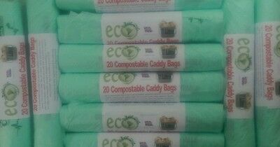 7 Litre Compostable Kitchen Caddy Bin Liners / Bags Biobag Food Waste