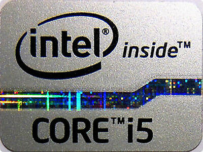 Intel Core i5 Inside Gray Silver Sticker 15.5 x 21mm 2012 Ivy Bridge Case Badge