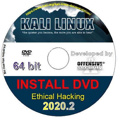 KALI LINUX 2019 2 64 Bit Bootable run Live or Install DVD Ethical