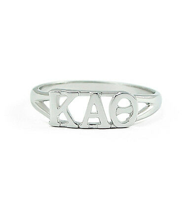 Kappa Alpha Theta sterling silver ring with cut-out letters, NEW!!***