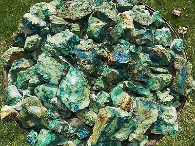 3000 Carat Lots of Azurite - Malachite Rough - Plus a FREE Faceted Gemstone