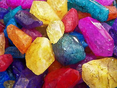 1000 Carat Lots of Dyed Crystal Points - Plus a FREE Faceted Gemstone