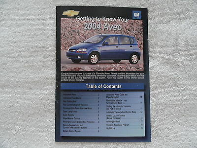 2006 chevy aveo owners manual used 29 99 picclick rh picclick com Ford Aveo 2004 2004 Chevy Aveo Hatchback