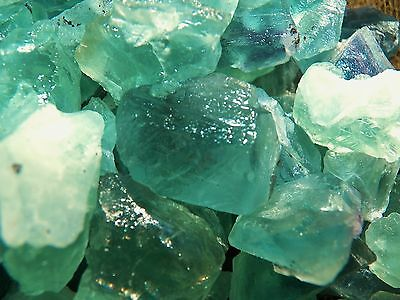500 Carat Lots of Green Flourite Rough - Plus a FREE Faceted Gemstone