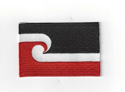 MAORI  FLAG IRON ON  PATCH BUY 2 GET 1  FREE = 3 of these