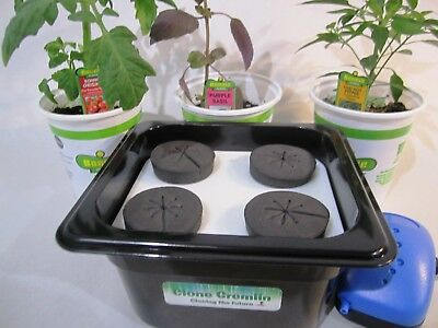Hydroponic System 4 Site Cloner with air pump