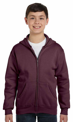 Hanes Boys New Comfort Pouch Pockets Long Sleeve Full Zip Winter Hoodie. P480