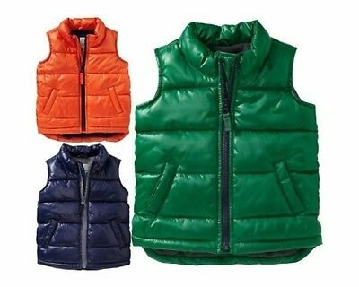 NWT Old Navy Quilted Frost Free Puffer Vest Outerwear Boys NEW U-Pick Colors