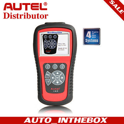 Original Autel MD802 4 SYSTEM Maxidiag Elite Graphing OBD2 Code Clearing Tool