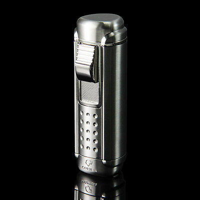 Black COHIBA 4 Torch Jet Flame Cigar Cigarette Lighter with Punch