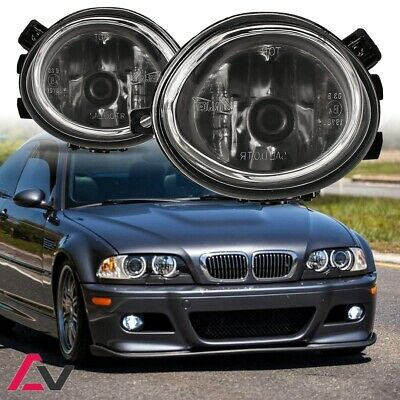 01-05 BMW E46 3 Series M3 99-02 M5 Fog Lights Clear Lens Driving Lamps PAIR