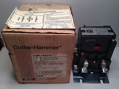 New! Cutler-Hammer Lighting Contactor C30Cn2A 30 Amp 2 Pole Coil: 120V 60Hz
