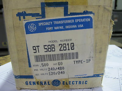 GE .500 KVA 1 Phase 240/480 X 120/240 Volt Control Transformer NEW T816