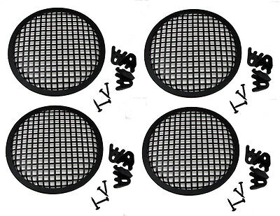 "4 Pack Penn Elcom G08 Speaker Grill With Mounting Hardware for 8"" Sub Woofers"