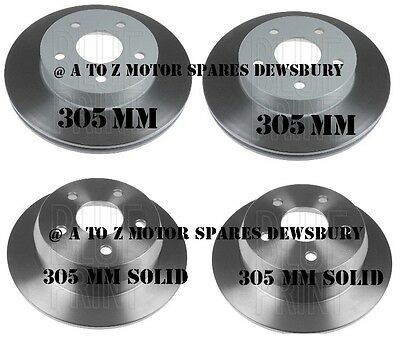 Jeep Grand Cherokee Wg Wj Front And Rear Disc Brake Discs Set 1999-2004 305 Mm