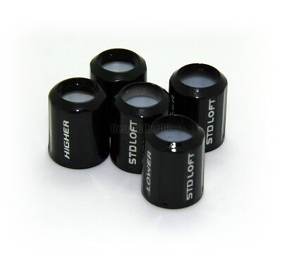 Black 5pcs Replacement .335 Adapter Ferrule/cap  For Taylormade R11 R11s R9 RBZ