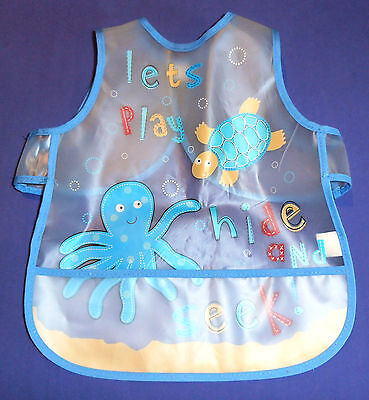 Baby Activity Apron or Bib ~ Let's Play Hide & Seek ~ 1/3 Years ~ Washable ~ NEW