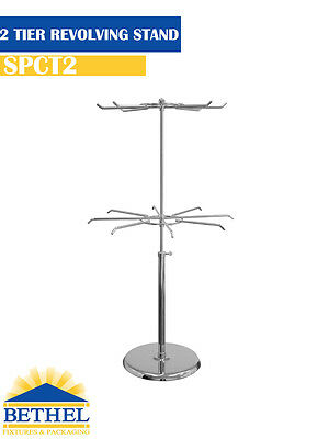 2‐TIER REVOLVING COUNTER TOP WIRE DISPLAY STAND