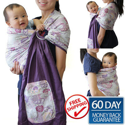 PALM and POND 2017 NEW Reversible Baby Ring Sling Carrier Wrap Newborn To Toddle