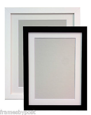 Black or White Large Photo Picture Frames & White Black or Ivory Mounts MDF H7