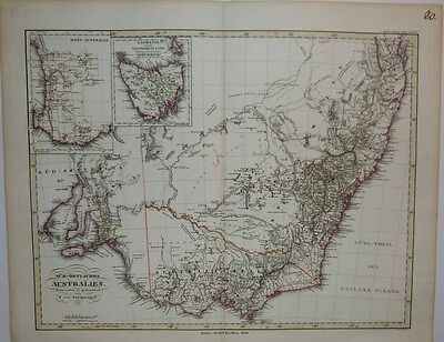 1850 Stulpnagel (Oxley & Cunningham) Map SOUTHWEST AUSTRALIA Detailed Survey!