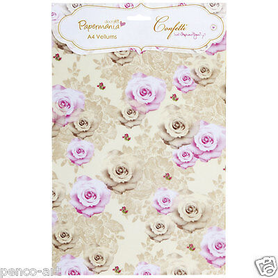 Papermania A4 Vellum inserts Confetti by Stephanie Dyment (20PK) Bouquet flowers