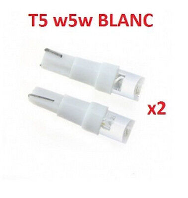 T5 LOT DE  2 ampoules LED W5W T5 BLANC XENON PUSH WEDGE LIGHT