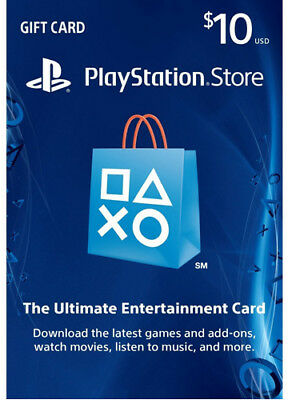 US $10 PLAYSTATION NETWORK Prepaid Card Karte PSN für PS3 PS4 PSP KEY CODE