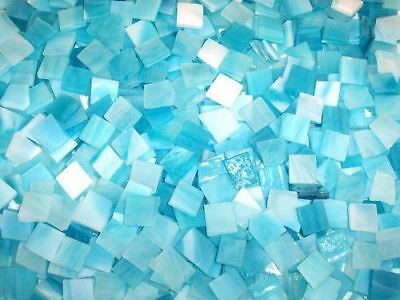 """100 1/2"""" Gulf Blue Tumbled Stained Glass Mosaic Tiles"""