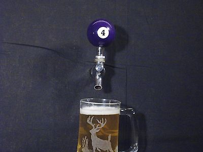 #4 POOL BALL BEER KEG TAP HANDLE KEGERATOR ** FREE PRIORITY SHIPPING**