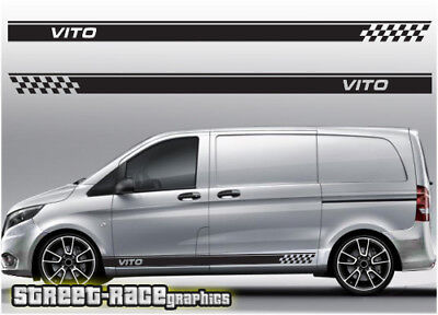 Mercedes Vito side racing stripes 011 decals stickers graphics vinyl