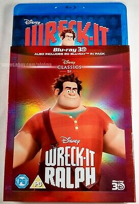 WRECK-IT RALPH Brand New 3D BLU-RAY (and 2D) 2012 Walt Disney Movie Region-Free