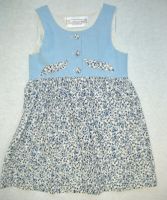 Country Classic Cotton Jumper Girls & Mom's Sizes – Pretty Blue on Ivory Calico