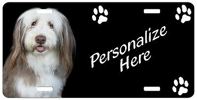 Bearded Collie  Personalized  License  Plate
