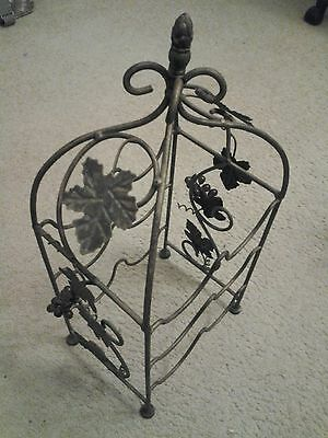 Metal Wine Rack With Maple Leaves, Decorative