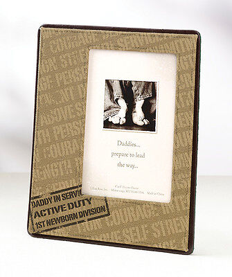 """Brand NEW"" Canvas 'Daddy in Service' Military Baby Photo Frame"