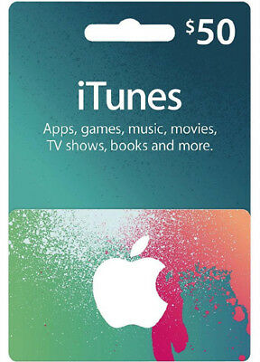 $50 iTUNES GIFT CERTIFICATE CARD Karte US APPLE iPhone iPod iPad Key Code USD